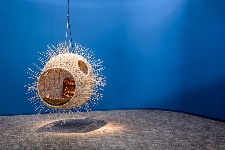 Porky Hefer: Puffer fish hanging nest.
