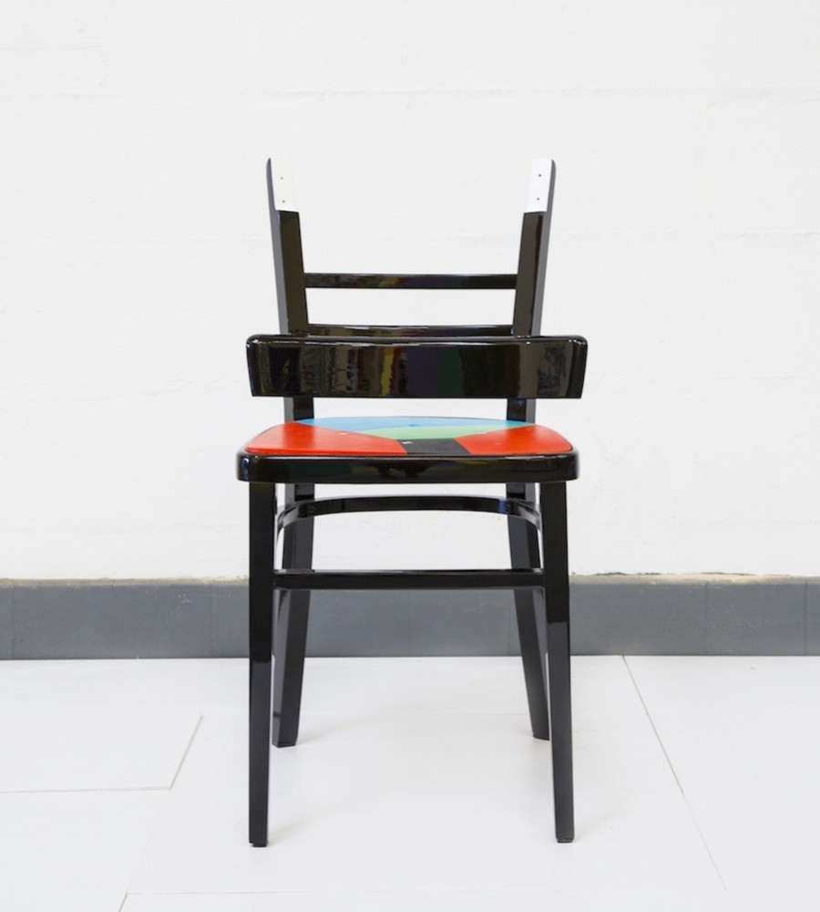 Upcycled chair by Yinka Ilori