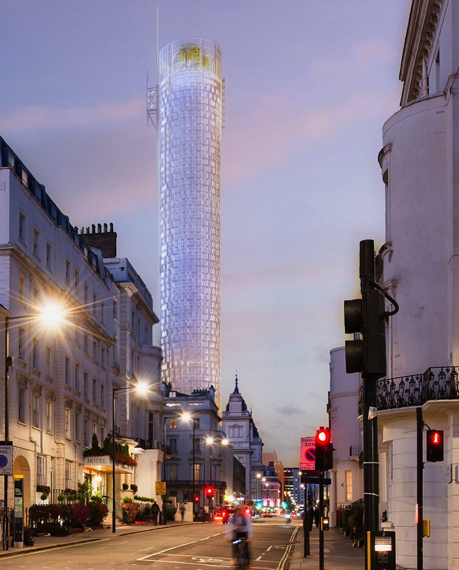 Tower at 31 London Street, Paddington. Courtesy of Renzo Piano Building Workshop.
