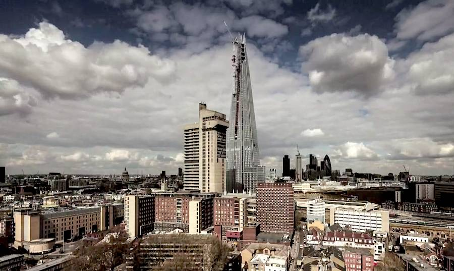 Paul Raftery and Dan Lowe, teamed to create a timelapse film showing the final weeks of construction of The Shard tower. CLICK on the picture to watch the video.