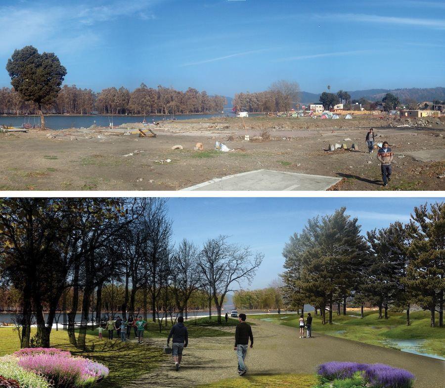 Aravena/ELEMENTAL: Post-Tsunami Sustainable Reconstruction Plan of Constitución, 2010-ongoing. Constitución, Chile - Photo courtesy ELEMENTAL.
