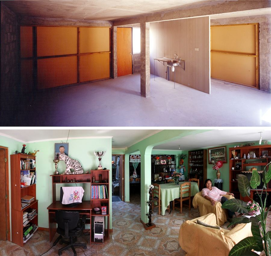 Aravena / ELEMENTAL: Quinta Monroy Housing, 2004, Iquique, Chile - Photos by Cristobal Palma.