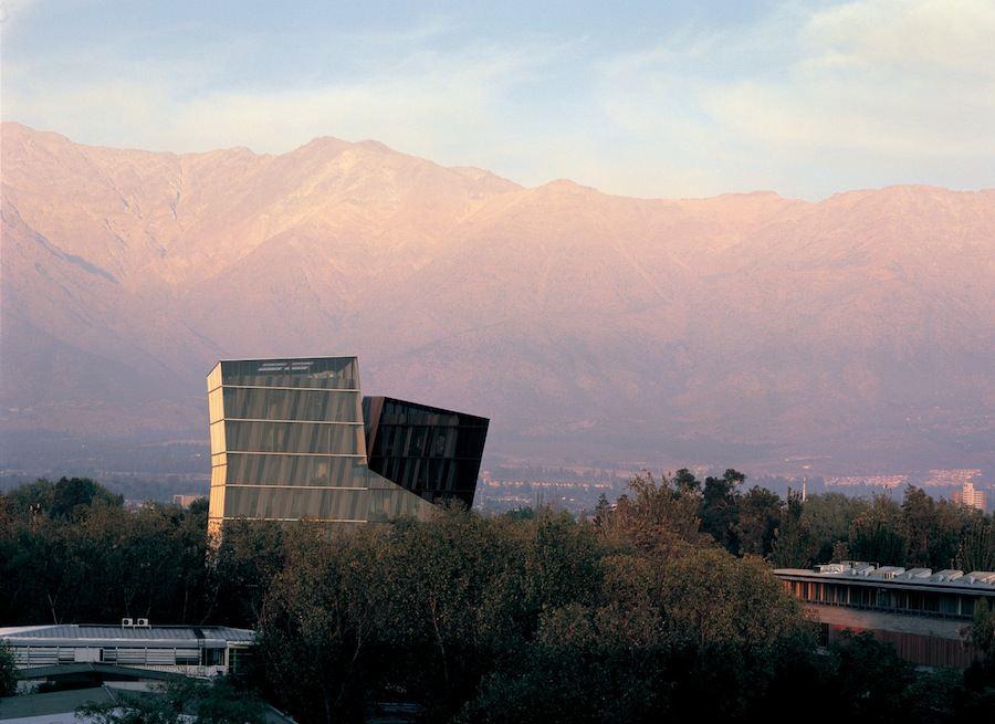 Aravena/ELEMENTAL: Siamese Towers, 2005, San Joaquín Campus, Universidad Católica de Chile, Santiago, Chile - Photo by Cristobal Palma.