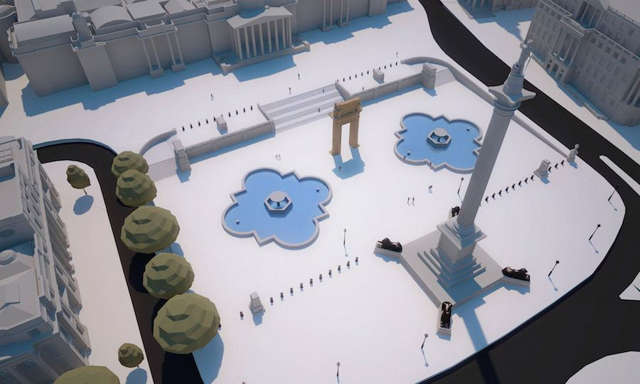 Palmira Arch Replica in Trafalgar square, London - Courtesy of IDA Institute for Digital Achaeology.
