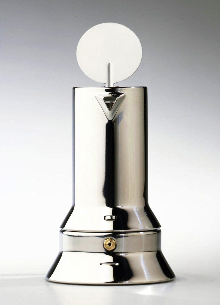 Richard Sapper: 9090 Expresso Coffe Maker for Alessi - Compasso d'Oro 1979.