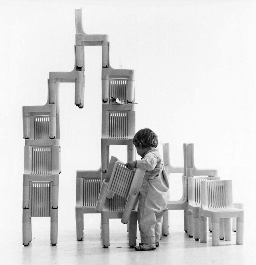 Richard Sapper: K1340 chair for Kartell, 1964.