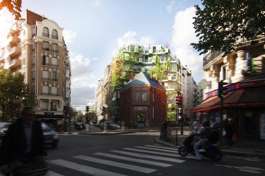Red and BGPA: Bais Douches Castagnary- 15° arr - Courtesy of Reinveter.Paris.