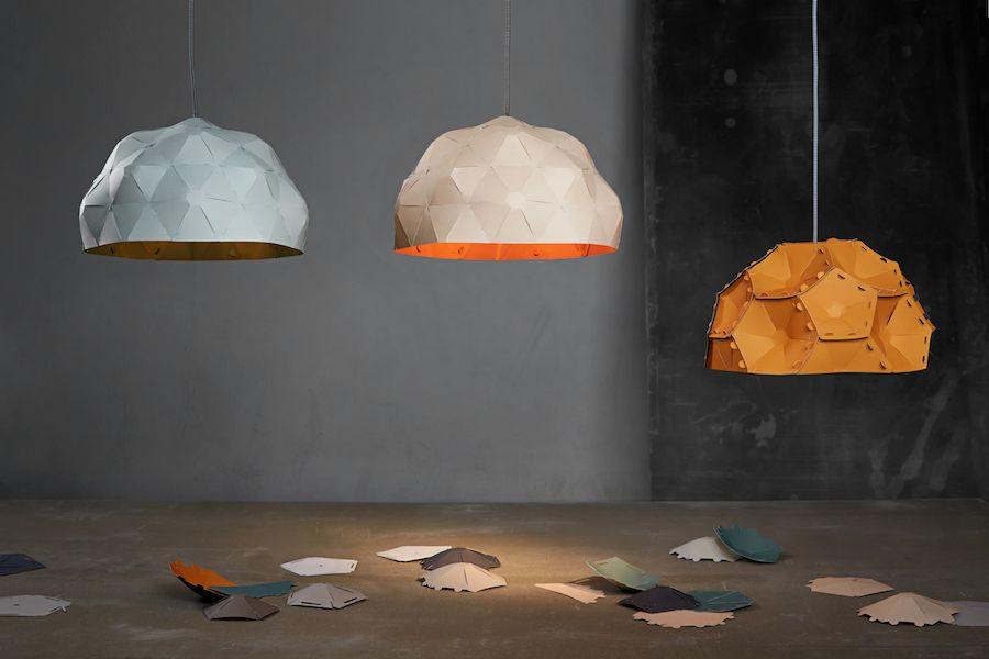 Børk: Krafla paper lamp - Photo by Axel Sigur+¦arson.