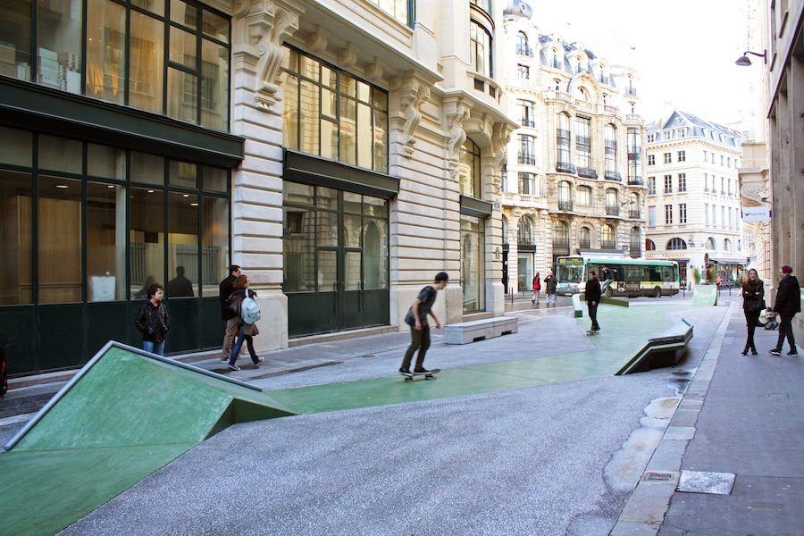 Agence Constructo (FR) + skater and artist Raphaël Zarka, Paris. Cladel. Courtesy of Villa Noailles.