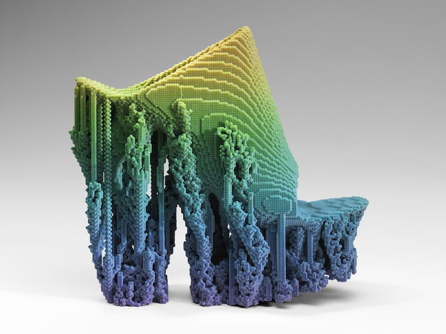 """""""Molecule"""" Shoe, 2015, Designed by Francis Bitonti, printed with Stratysys Connex 3D Printer, printing software by Adobe Photoshop ©"""