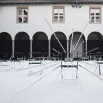 Nendo creates 50 Manga chairs for Friedman Benda exhibition at Milan Design week