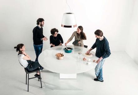 Air circular island kitchen
