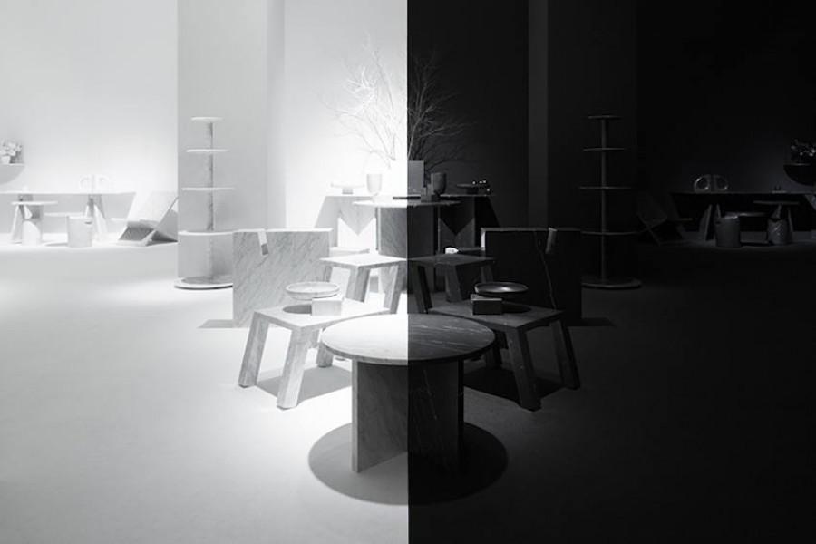 Light and shadow installation by Nendo for Marsotto Edizioni