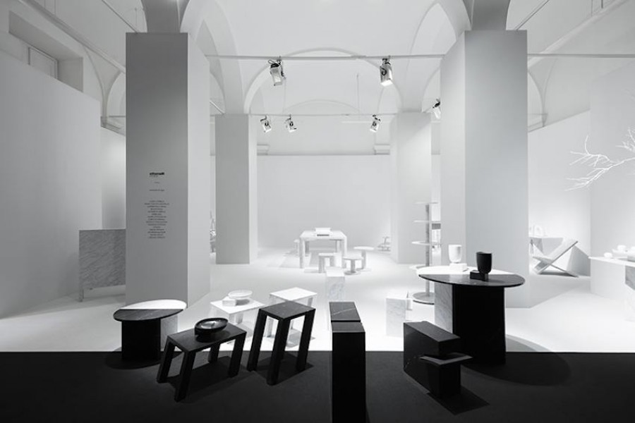 Light and shadow installation by Nendo for Marsotto Edizioni