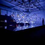 "Glass molecules inspire Asahi Glass Company ""Amorphous"" installation in Milan"