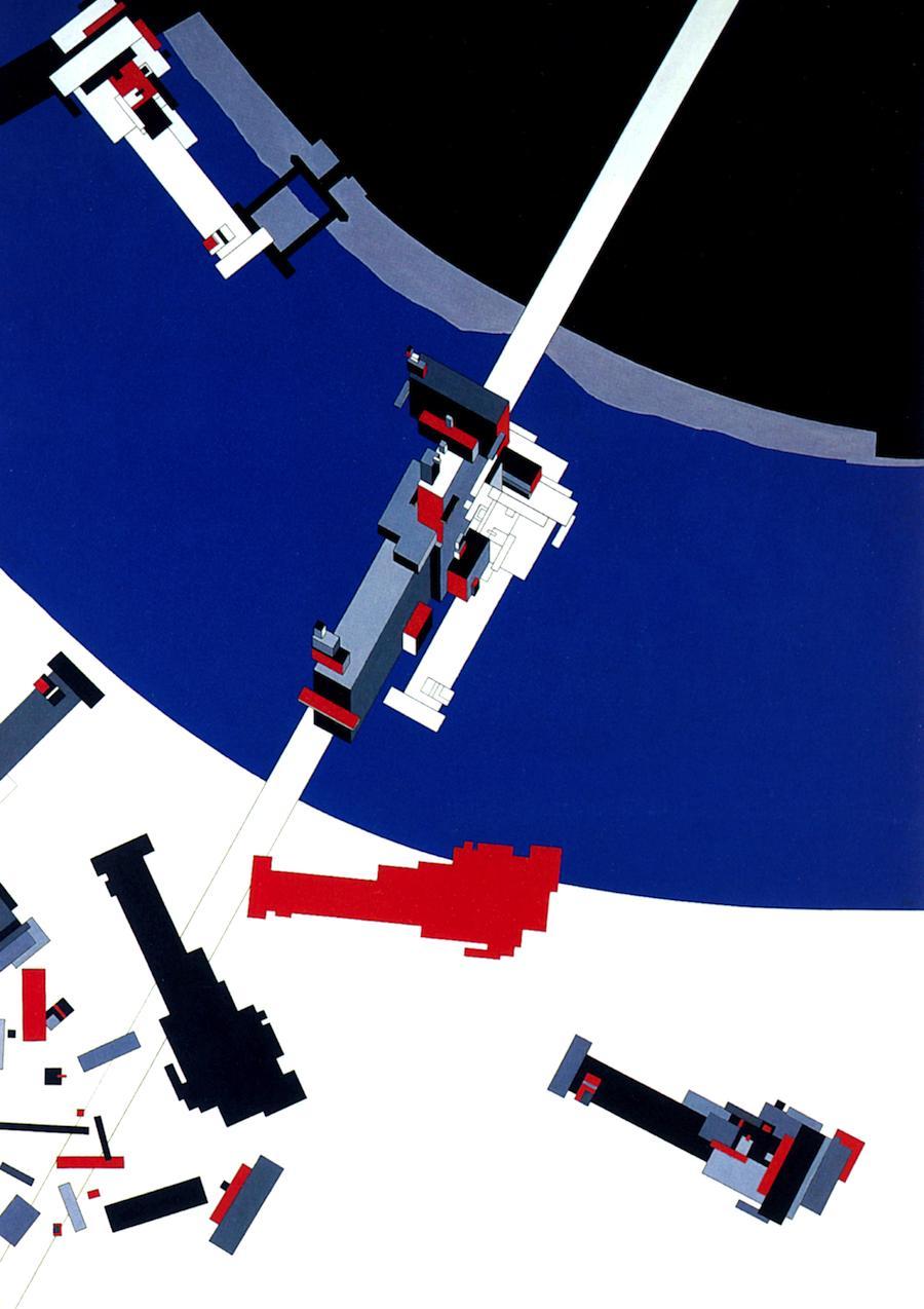 Malevich's Tektonic design (1976-77).