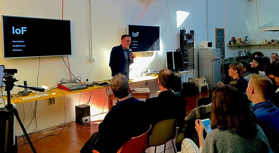 Reto Wettach @ IoF talk.