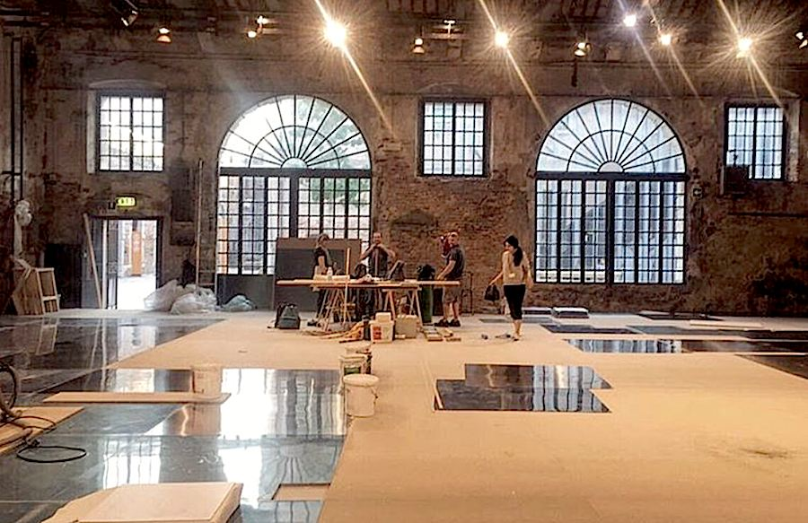 Venice Biennale 2016, Work in Progress - Ph. by Kuwait Pavilion (Instagram @kwtpavilion2016).