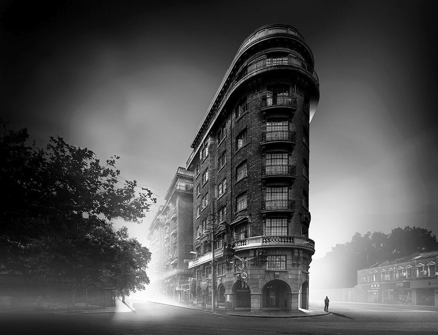 Wukhan Mansions (earlier known as Normandie Apts) by Laszlo Hudec - Photo by Amey Kandalgaonkar.