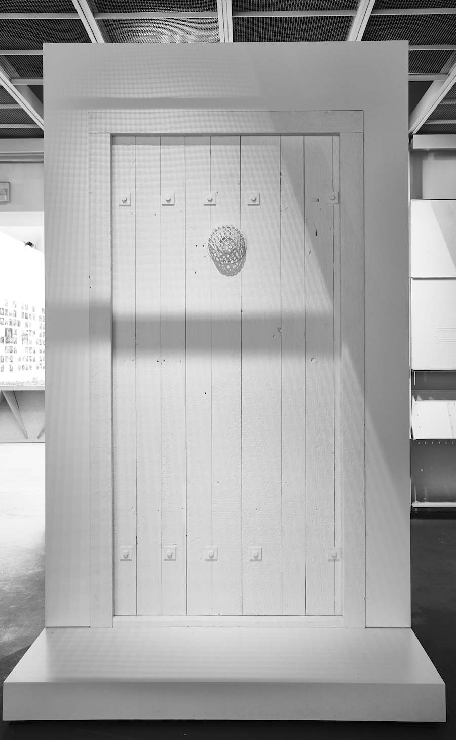 Model of the victim side of gastight door in The Evidence Room. Photo by Fred Hunsberger.
