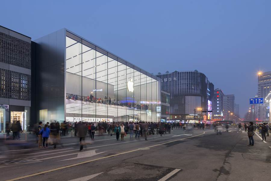 Hangzhou's Apple store by Foster+Partners - photo: courtesy of Foster+Partners.