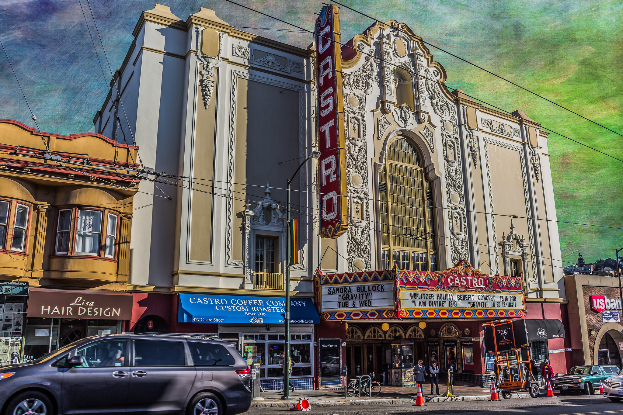 Castro Theatre in San Francisco (Open). Here activist Harvey Milk fought one of the most prominent gay-rights battles - Photo by David Seibold, Flickr CC.