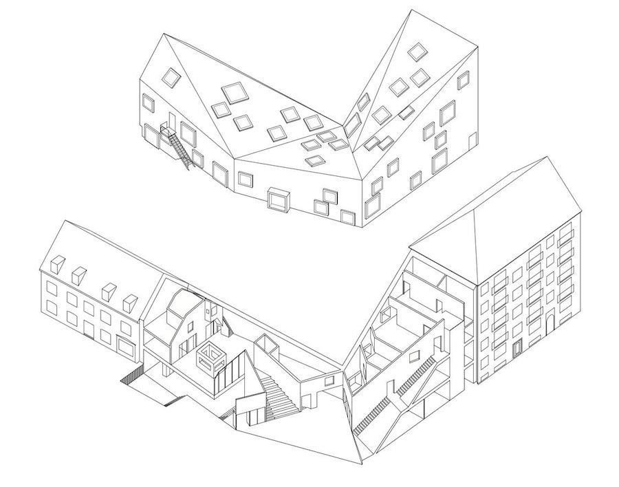 Plan of Ama'r Children Culture House by Dorte Mandrup Arkitekter - Courtesy of Dorte Mandrup Arkitekter.