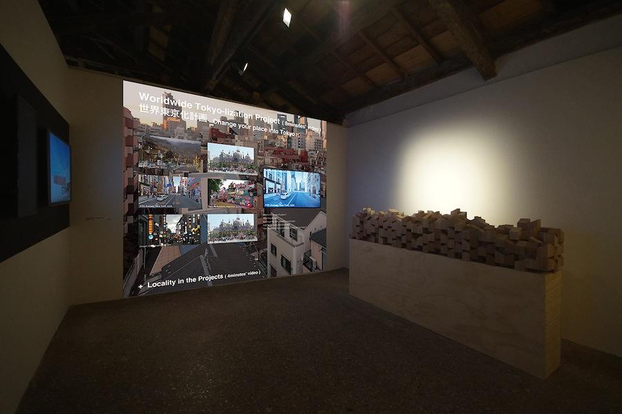 Tokyo-lization, installation at Palazzo Mora - Photo by Ishii+Future-scape.