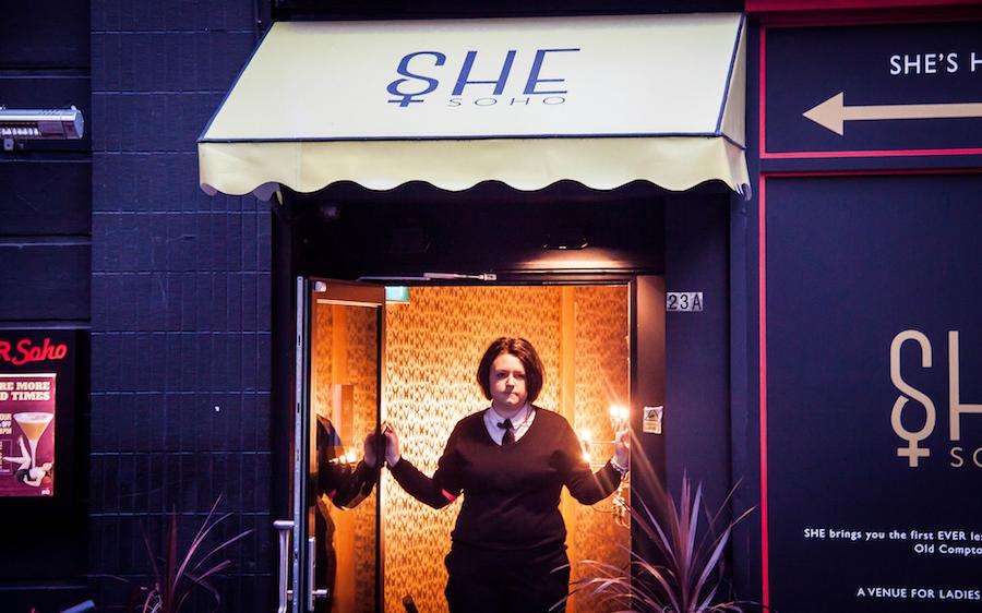 Female security guard at SHE lesbian club in London SoHo - Photo by Chris Golberg Flickr CC.
