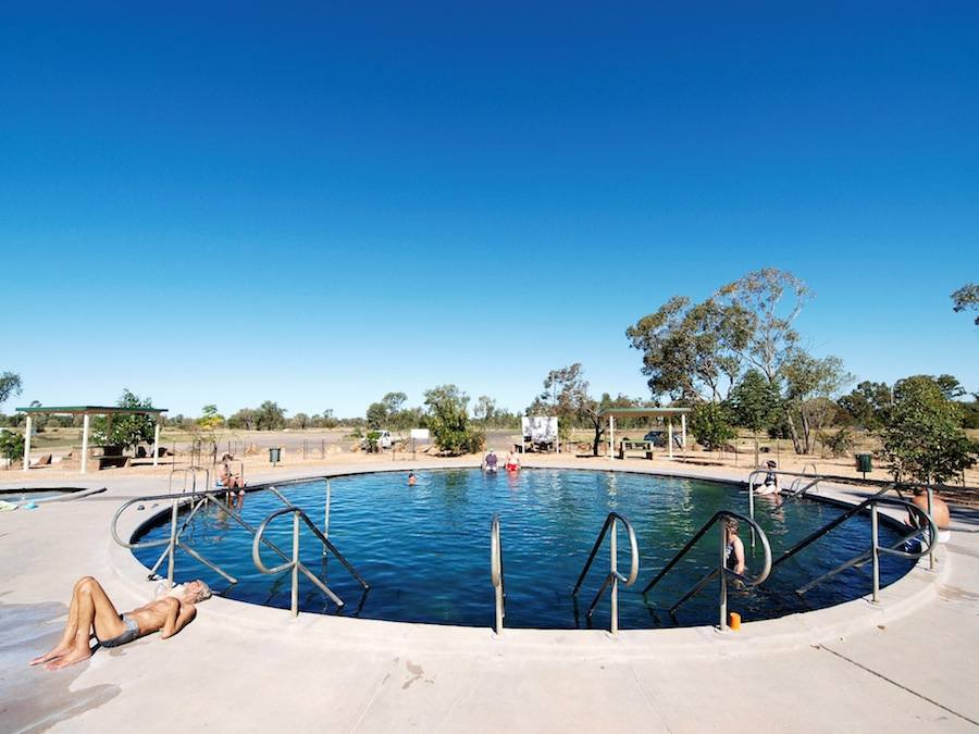 Lightning Ridge hot artesian baths - Photo: Simon Bayliss, courtesy of Lightning Ridge Tourism Association.