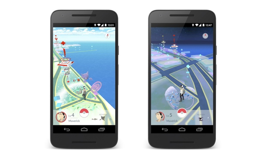 Pokemong Go - Day and night GPS maps.