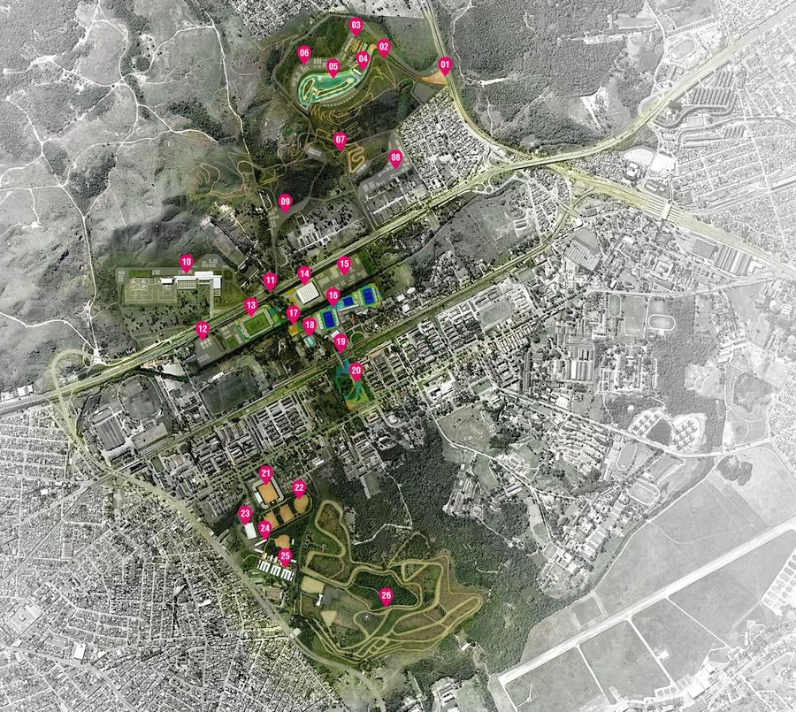 Deodoro Olympic Park - General masterplan. Click on the picture to enlarge.