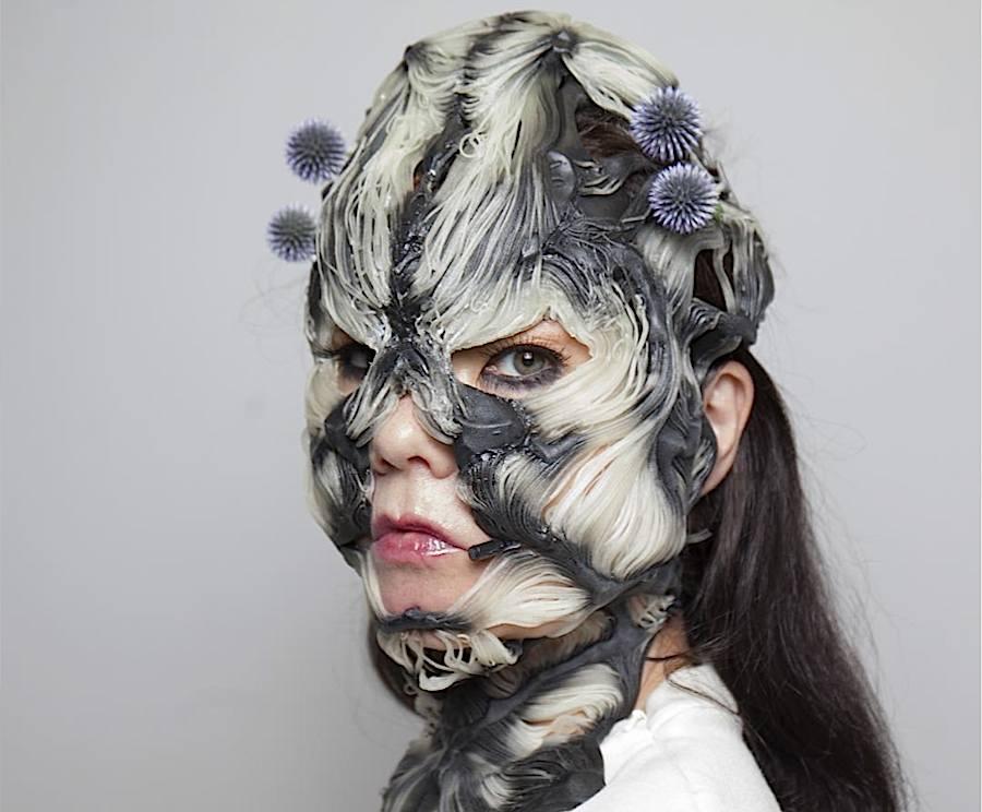Björk - Rottlace mask. Instagram @Bjork.
