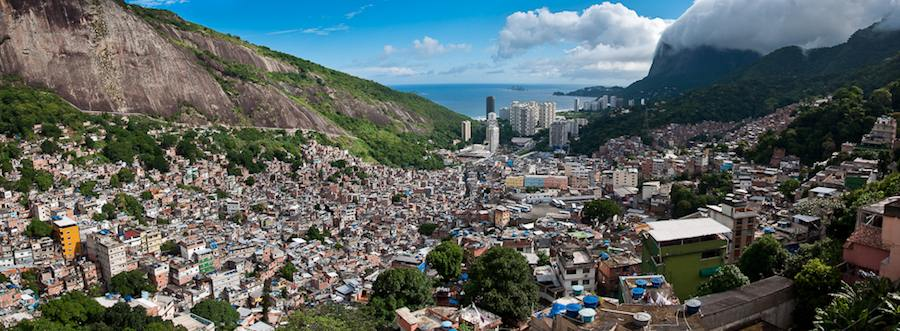 View on Copacabana from the favela - Photo by Michael Sharman Flickr CC