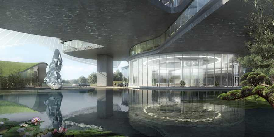 Xinhee fashion house headquarters by MAD Architects - Image: courtesy of MAD Architects.