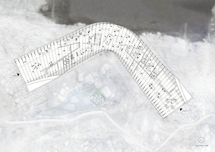 Icefjord Center by Dorte Mandrup - Plan Dorte Mandrup Arkitekter.