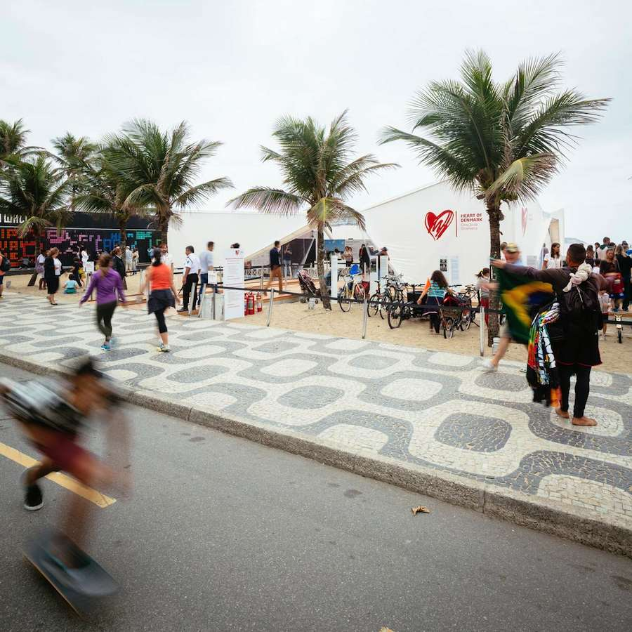 """The Heart of Denmark"" temporary Pavilion by Henning Larsen Architects in Rio - Photo by Henning Larsen Architects"
