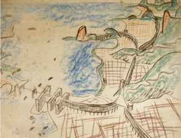 Le Corbusier's 1929 unbuilt master-plan for Rio de Janeiro featured a highway on top of curved housing buildings.