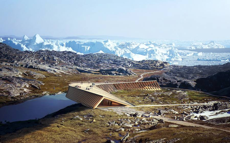 The Icefjord Center, by Dorte Mandrup Arkitekter, image by MIR - Courtesy of Dorte Mandrup Arkitekter.