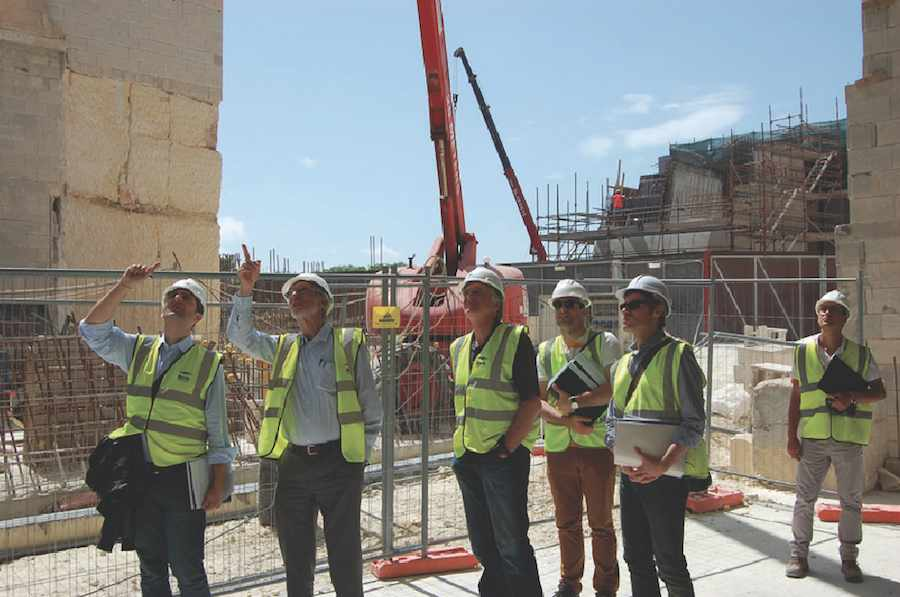 © RPBW - Renzo Piano Building Workshop Architects - Visit to a construction site in Malta.