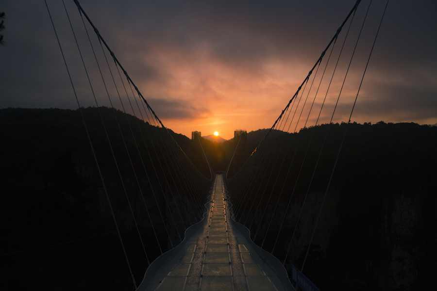 Zhangjiajie Grand Canyon Glass Bridge by Haim Dotan - Photo: courtesy of Haim Dotan.