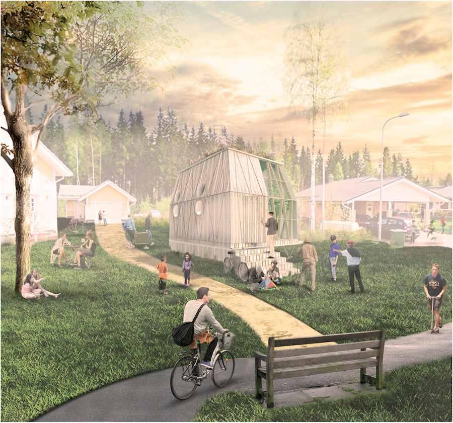 """IMBY-In My Backyard"" Finnish Pavilion. Copyright: DAT Pangea Quatorze."