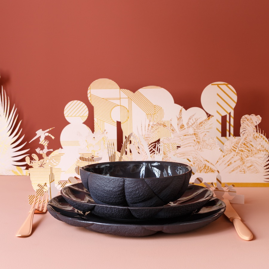 Succession Ceramic tableware by Färg & Blanche for Petite Friture - Photo by Masha Bakker - courtesy of Färg & Blanche.