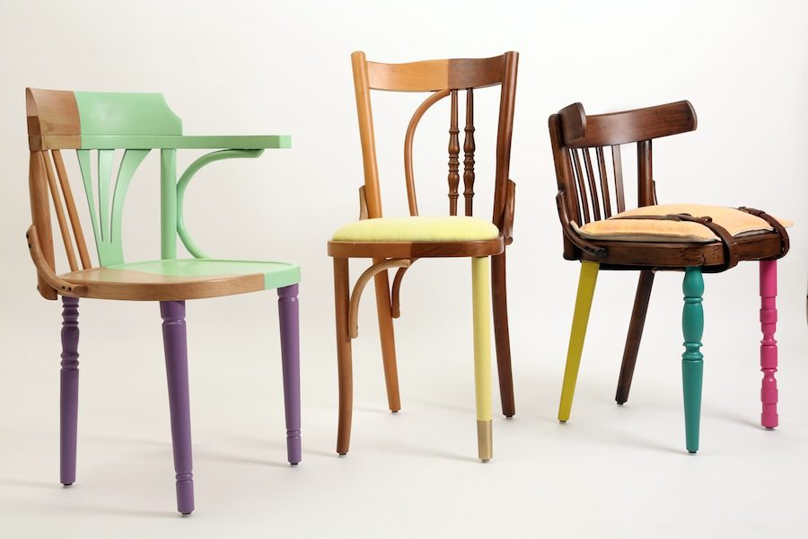 "Exhibition ""Cairo Now! Incomplete City"" – Ahwa chairs by Mariam Hazem @ Reform Studio."