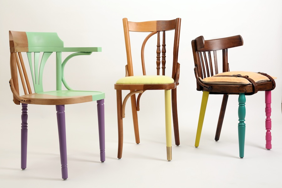 "Exhibition ""Cairo Now! Incomplete City"" - Ahwa chairs by Mariam Hazem @ Reform Studio."