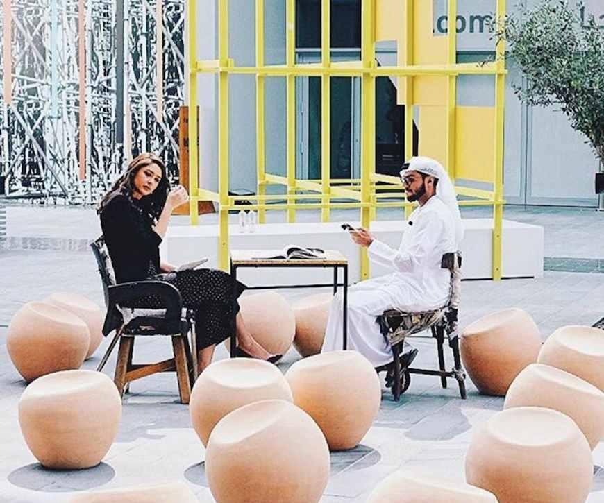 Left Impression by Talin Hazbar and Latifa Saeed - Instagram @Tashkeel.