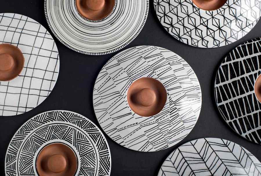 Pottery by Menn Baladha, Alik Mikaelian, Amira El Shawarby and Salma Adel.
