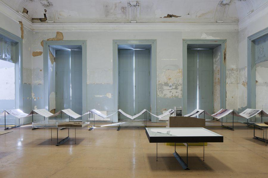 "Lisbon Architecture Tirennale 2016: ""Sines: Seaside Logistics"" exhibition – ©Tiago Casanova."