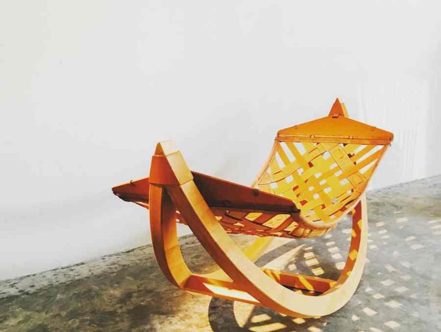 UAE designer Saher Oliver Samman presents bespoke hammocks @ Tashkeel Tanween pop-up store - Instagram @tashkeelstudio.