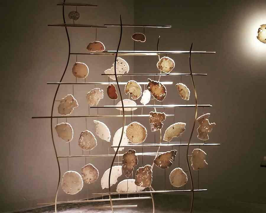 UAE designer Zuleika Penniman presents bespoke lightings @ Tashkeel Tanween pop-up store - Instagram @tashkeelstudio.